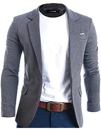 FLATSEVEN Herren Slim Fit Freizeit Premium Blazer Sakko