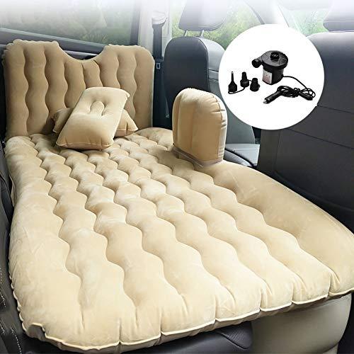 Zcjb materasso gonfiabile for auto da viaggio portatile da campeggio air bed con supporto posteriore, adatto for la notte all'aperto in auto (color : beige, size : l 73'' x w 35'')