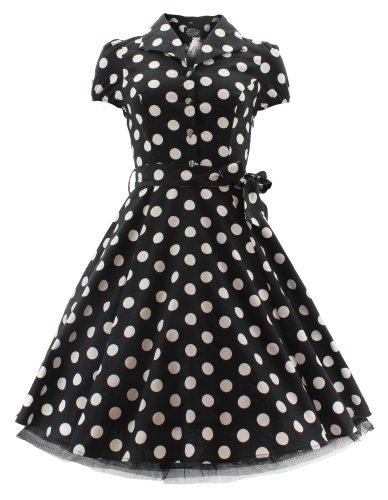 H r &london bIG dOT 6839 robe robe Noir - Noir