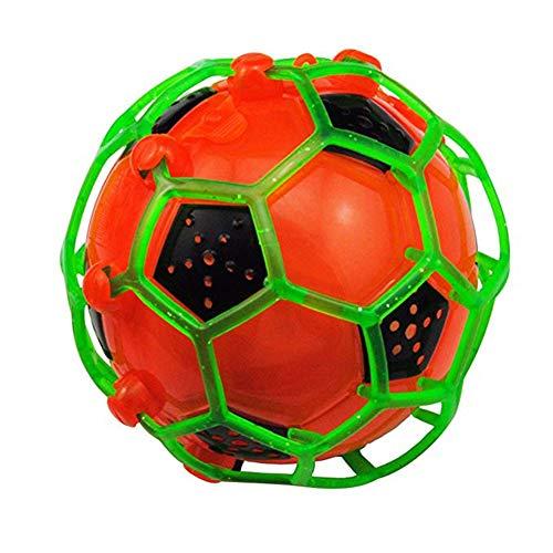 Yiwa Neuheit, lustiges LED-Spielzeug, leuchtet im Dunkeln, blinkend, elektrischer Fußball, Orange