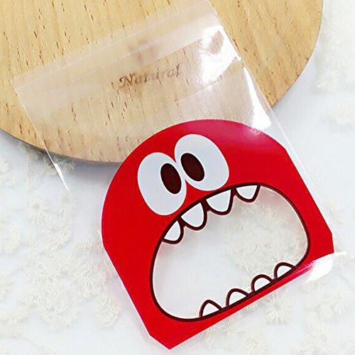 Cookie Candy Tasche dekorieren Gebäck Staubbeutel Sweet Party Geschenktüten Monster Muster Küchenutensilien Gadgets 100 Free Size rot