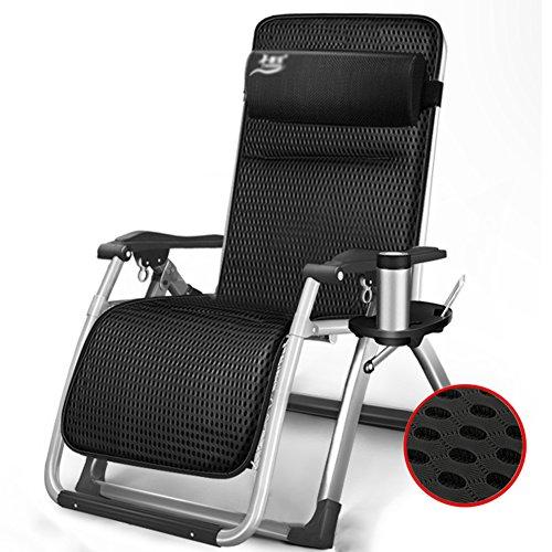 ZGL Relaxsessel & -liegen Klappstuhl Lounge Büros Mittagspause Stuhl Beach Lounge Chair Lounge für Erwachsene Terrassenstuhl Beach Folding Recliner 200kg (Farbe : Style-4) (Folding Chair Beach Nylon)