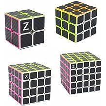 HJXDtech- ZCUBE Nueva mágica del cubo 2x2x2 3x3x3 cubo de 4x4x4 5x5x5 con el Racing velocidad de fibra de carbono para el parachoques (juego de 4 unidades)
