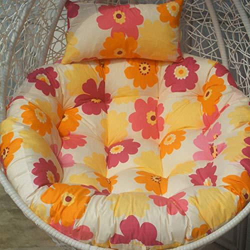 LoveLife Swing Sitzkissen,hängende Ei Rattan Stuhl Hängematte Pad,Indoor Oder Outdoor Runde Patio Garden Wicker Stuhl Nicht Enthalten(Stuhl Nicht Enthalten)-r 100x100cm(39x39inch)