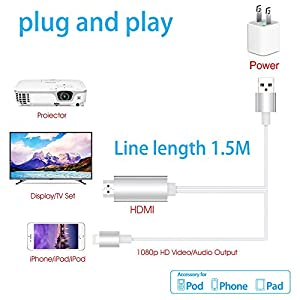 Yehua Lightning to HDMI cable Video streaming converter for