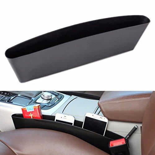 Preisvergleich Produktbild Auto Tasche Organizer - All4you 2 Stk Autositz Konsole Lückenfüller fangen Caddy Side Pocket Organizer(Black)