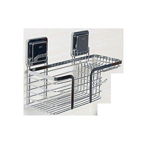 duschkorb haengend edelstahl Duschkorb Duschablage Ohne Bohren, LEEFE Selbstklebend Duschregal Edelstahl Badregal für Küchen & Badezimmer, Laden bis zu 7KG