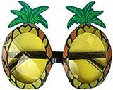 2 x Ananas Sonnenbrillen Gläser Specs Hawaiisch Hula Kostüm Verkleidung Kostüm Zubehör