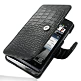PDair B41 Black / Crocodile Pattern Leather Case for Motorola Droid 3 XT862
