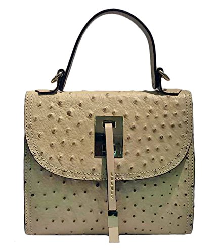 Adamis Leather Handbag For Women's - Beige