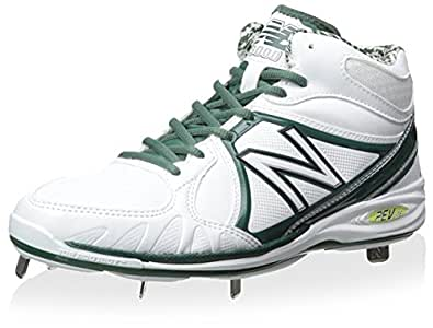 New Balance Men's Baseball Athletic Shoe, White/Green, 7 M US