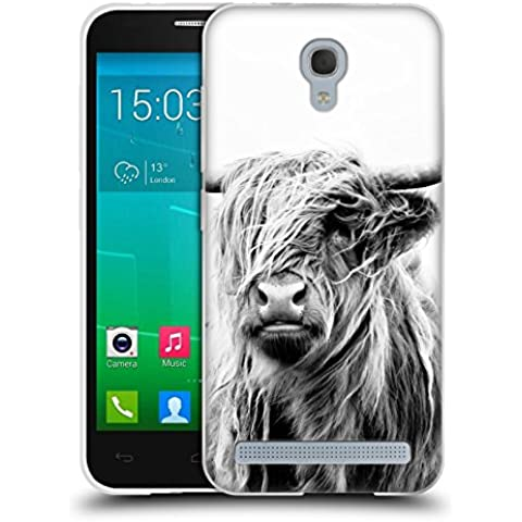 Official Dorit Fuhg Portrait of a Highland Cow Travel Stories Soft Gel Case for Alcatel Idol 2 Mini