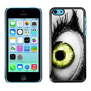 Omega Covers - Snap on Hard Back Case Cover Shell FOR Apple iPhone 5C - Vibrant Gray White Black Green Deep