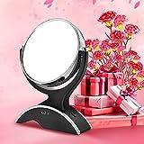 Anjou Kosmetikspiegel Make up Spiegel LED schminkspiegel Beleuchtet mit 7-facher Vergrößerung und Doppelseitiger Vergrößerungsspiegel, 360° Drehbar für Kosmetik und Hautpflege,14LEDs - 7