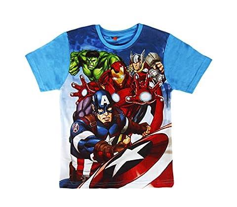 T-shirt enfant AVENGERS 2200001960 en coton taille de 6 à 10 ans. MEDIA WAVE store ® (8 Ans)