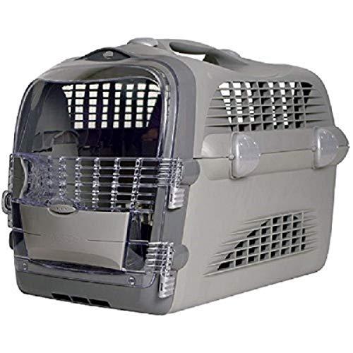 Catiti Pet Cargo Cabrio, Transportbox, grau-grau