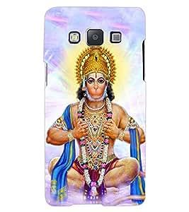 ColourCraft Lord Hanuman Design Back Case Cover for SAMSUNG GALAXY A8