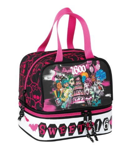 Monster High Draculaura bolso portameriendas , Tamaño: 20x20x15cm.