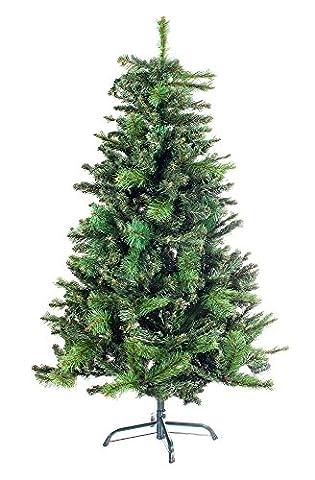 Hiskøl 210 cm PVC ca. 984 Astspitzen Künstlicher Weihnachtsbaum Tannenbaum Christbaum inklusive Christbaumständer, grün in Kieferoptik