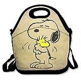 Peanuts Snoopy Sleeping Lunch Tasche Lunch-Boxen, wasserdicht Outdoor-Reise Picknick Lunch Box Tasche Tote mit Reißverschluss und verstellbarer Schulterriemen