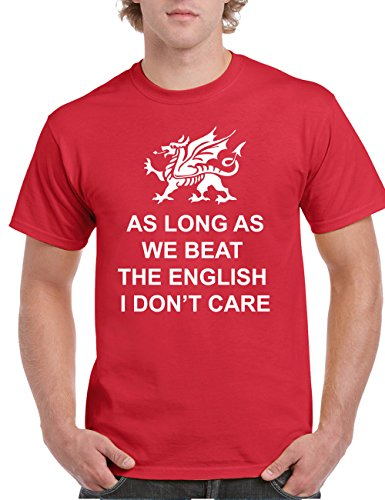 As long as we beat the English  Herren -Shirt Wales 6 Nations Rugby, Rot - Wales-rugby-shirt