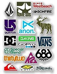 DestinationVinyl 6570-lot Vinyle stickers A4 dessins des logos de snowboard