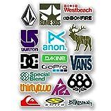 DestinationVinyl 6570 - Lote de pegatinas de vinilo, tamaño A4, diseños de logos de snowboard
