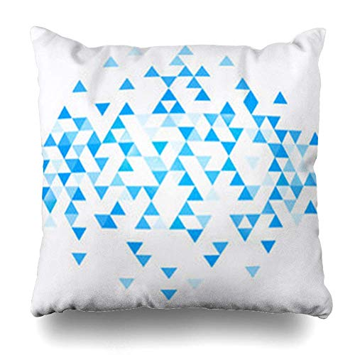 Zierkissenbezüge, Decorative Throw Pillow Covers, Square Throw Pillow case, Light Abstract Triangle Blue Splash Bright Brush Clean Pillowcase Square Size 18 x 18 Inches Home Decor Cushion Cases - West Elm-home Decor