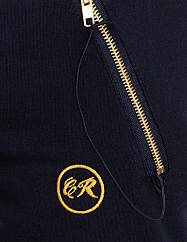 CHICK REBELLE - Pantalon -  - Relaxed - Uni Femme Dunkelblau