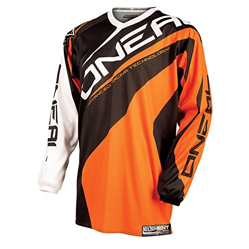 O'Neal Element Kinder Jersey Racewear Orange Mountain Bike Moto Cross Enduro Trikot MTB MX DH, 0025R-4, Größe Small