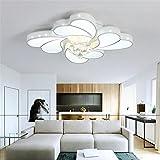 Cristal conduit Plafonnier moderne Fer Lustre salon chambre Décoratif lumières , diameter 52cm- tricolor segmented 32w