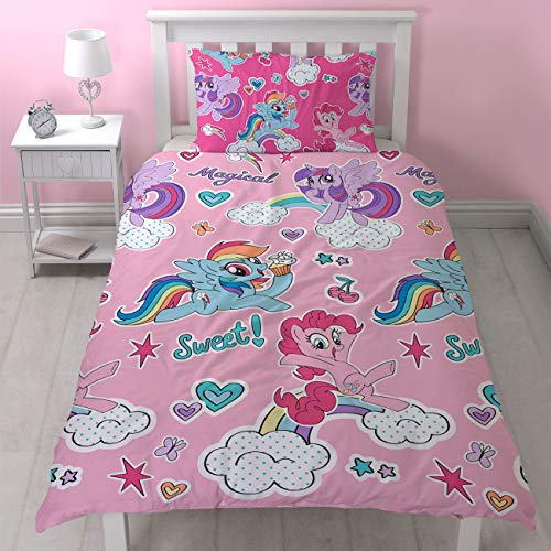 Lenzuola My Little Pony.My Little Pony Cupcake Single Duvet Cover And Pillowcase Set