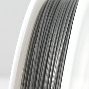 10m Schmuckdraht Basteldraht Ø 0,8mm altsilber €0,39//m nylonummantelt Draht