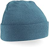 BEECHFIELD ACRYLIC KNITTED HAT TURN UP ADULTS UNISEX