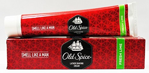 Old Spice Lather Shaving Cream - Fresh Lime (Pack Of 4) 70 G