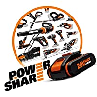 Worx Power Share 20 V/2000 mAh Li-Ion Battery and Charger Set – Pack of 1 WA3601