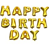 #2: Golden Happy Birthday Foil Balloon(Pack of 13) {18 Inch}for Birthday Decoration,Baby Shower,Wedding,Festival,Party