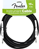 Accessoires guitares FENDER PERFORMANCE SERIE CABLE POUR INSTUMENT 4M50 NOIR Cables instrument