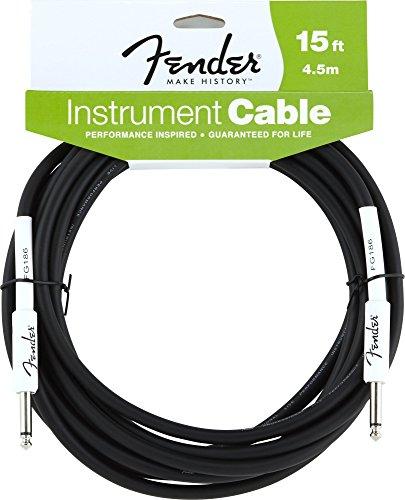 Fender 099-0820-047 4,5 m Instrumentenkabel Klinke (Fender Gitarre Instrument Kabel)