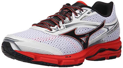 Mizuno Wave Legend 3 Synthétique Chaussure de Course White-Red-Black
