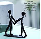 Casablanca Mini Design Skulptur Together Gußeisen 11 cm Figur Deko Liebe Paar Traum