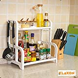 #5: Klaxon 2 Tier Multi Functional Kitchen Rack - White