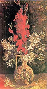 The Museum Outlet - Vase with Gladiolas and Carnations by Van Gogh - A3 Poster