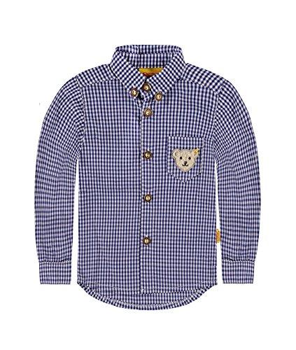 Steiff Collection Jungen Hemd Hemd 1/1 Arm, Gr. 98, Blau (twilight blue 3330)