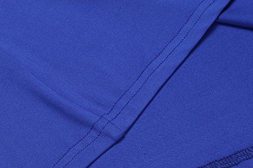 HOTOUCH Damen Tops Sommer Ärmellos Casual Tank Oberteil Shirt Typ1-Blau