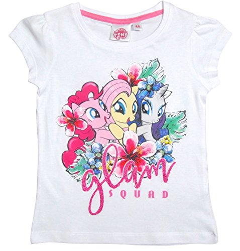 My Little Pony Kollektion 2017 T-Shirt 98 104 110 116 122 128 Pinkie Pie, Rarity und Fluttershy Weiß (92 - 98, (Pie Kleid Pinkie)