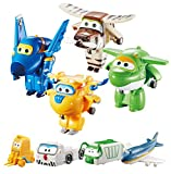 Super Wings Series 1 World aeroporto Flight Crew B (Jerome, Donnie, Bello, Mira) + 4 PVC Figure