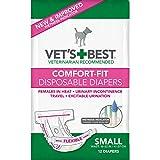 Vet 'S Best Comfort FIT Einweg weiblich Hund Windeln mit Nässeindikator