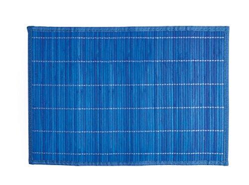 Excelsa Oriented Tovaglietta, bambù, Blu Scuro, 45x30x1 cm