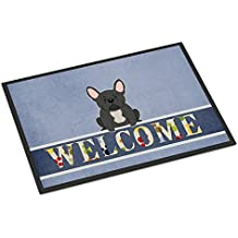 Caroline tesoros del bb5595mat francés Bulldog negro Felpudo de bienvenida, 18x 27, multicolor